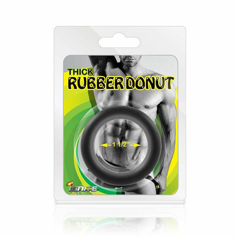 Thick Rubber Donut Cockring