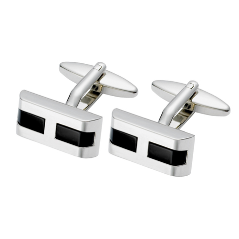 Black Onyx Rectangular Cufflink (SC39)
