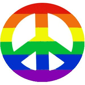 Rainbow Peace Sign Sticker/Decal