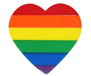 Rainbow Heart Sticker/Decal