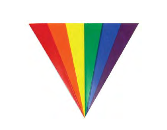Rainbow Fan Sticker/Decal