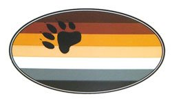 Bear Pride Oval Sticker
