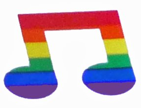 Rainbow Music Note Sticker/Decal