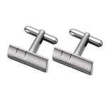 Simple Two-lined Titanium Cufflinks (TC16)