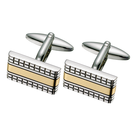 Two Toned Patterned Cufflinks (TTC68)