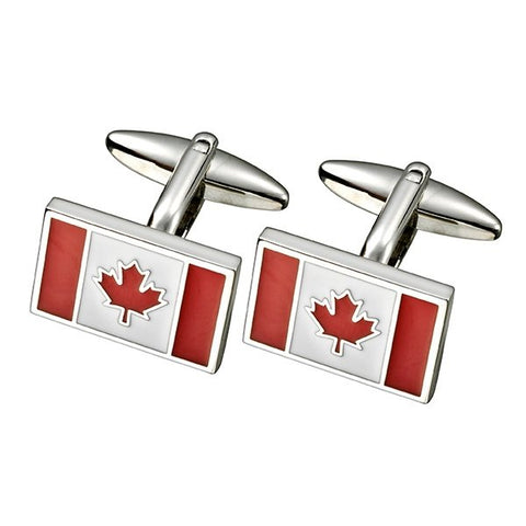 Maple Leaf Flag Cufflinks (SC87)