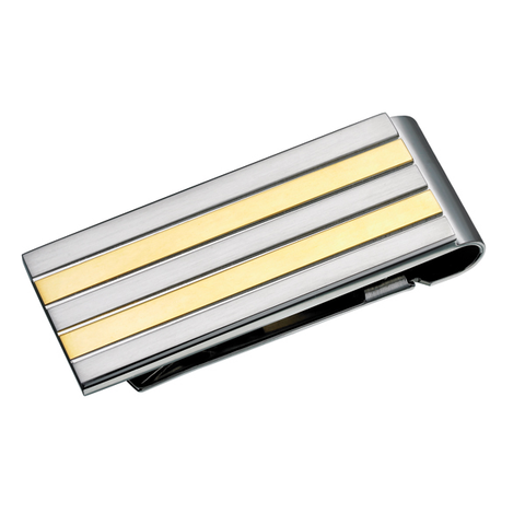 Striped Two Tone Money Clip (SM39)