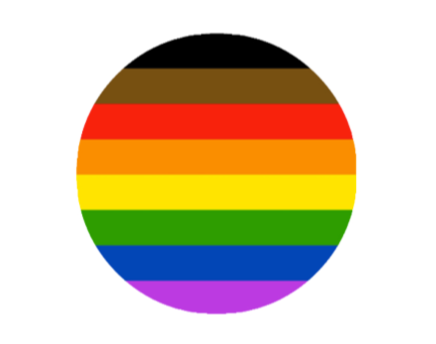 BIOPIC Inclusive Rainbow Pride Button