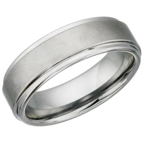 Brushed Finish Tungsten Ring (TUR14)