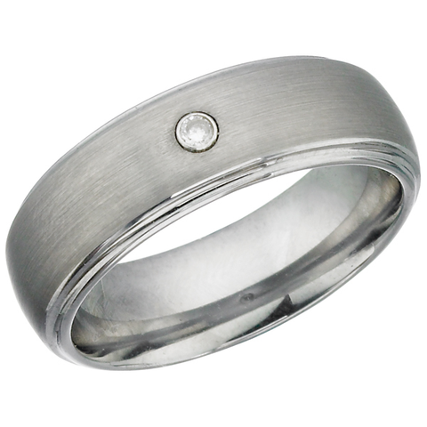 Tungsten Ring with Cubic Zirconia (TUR11)