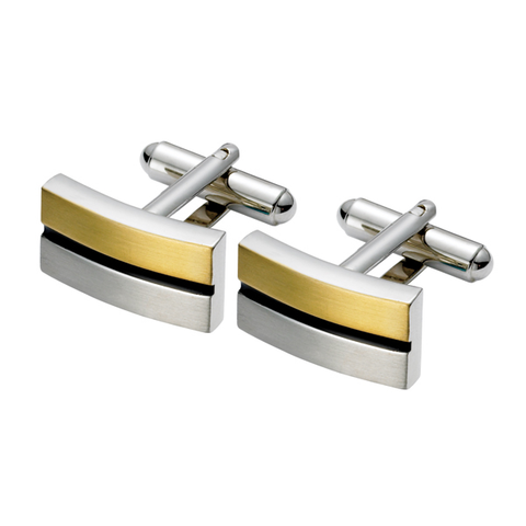Rectangular Tri Coloured Cufflinks (TTC26)
