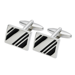 Black Diagonal Cufflinks (SC20)