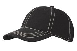 Plain Garment Washed Micro Sanded Cotton Cap with Contrast Stitching (CT6724)