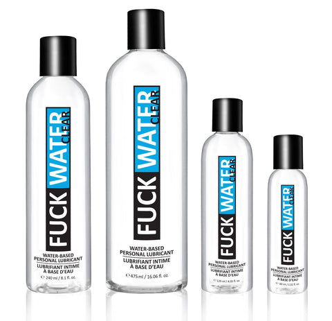 FuckWater Clear Water Based Lubricant - Various Sizes