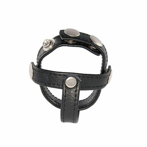 H-Type Ball Speader Leather Cockring 95073