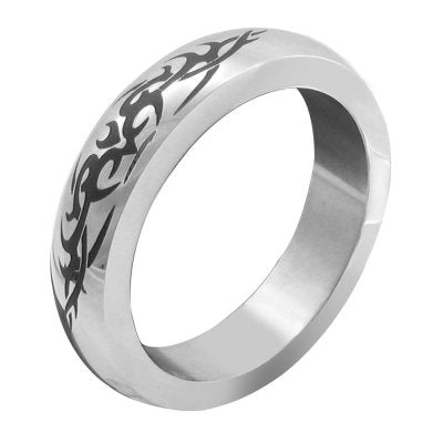 Stainless Steel Tribal Design Cock Ring