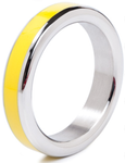 Stainless Steel Cock Ring with Colour Band