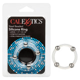 Steel Beaded Silicone Ring - 2 Sizes