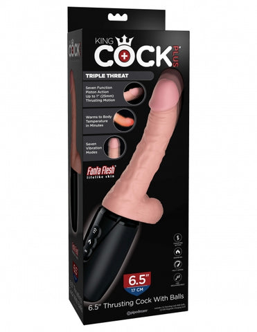 "King Cock Plus 6.5"" Thrusting Cock With Balls (572821)"