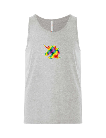 VRS Rainbow Unicorn Head Tank Top