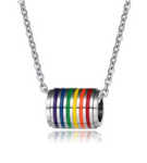 Rainbow Cylinder Necklace