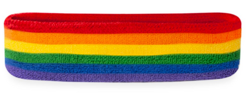 Rainbow Sweatbands - Headband and Wristband