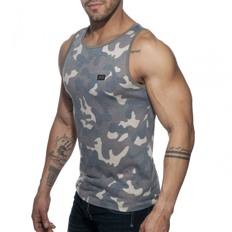 Addicted Washed Camo Tank Top (AD801)
