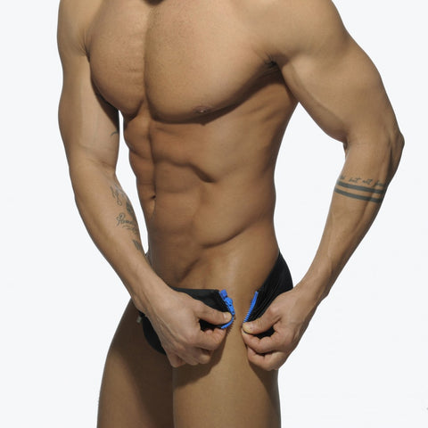 Addicted Zipper Lateral Detail Swim Brief (ADS120)