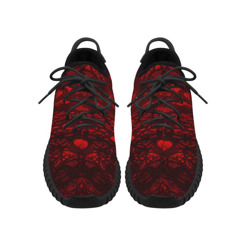 Red Carnage Blood Vein Grus MEN'S Breathable Woven Running Shoes