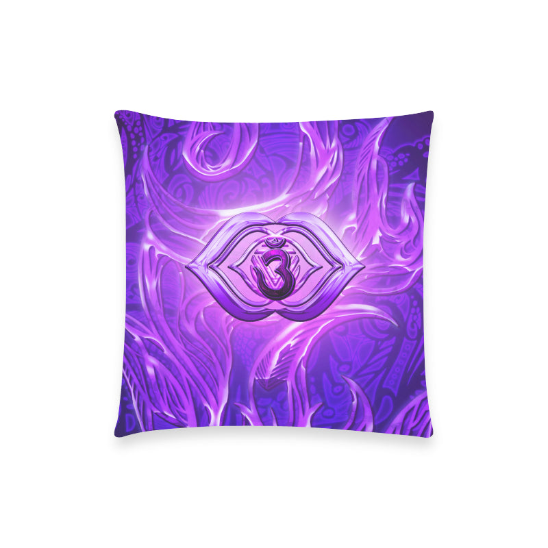 "Third Eye Chakra Anja Pillow Case 18""x18"" (one side) No Zipper"