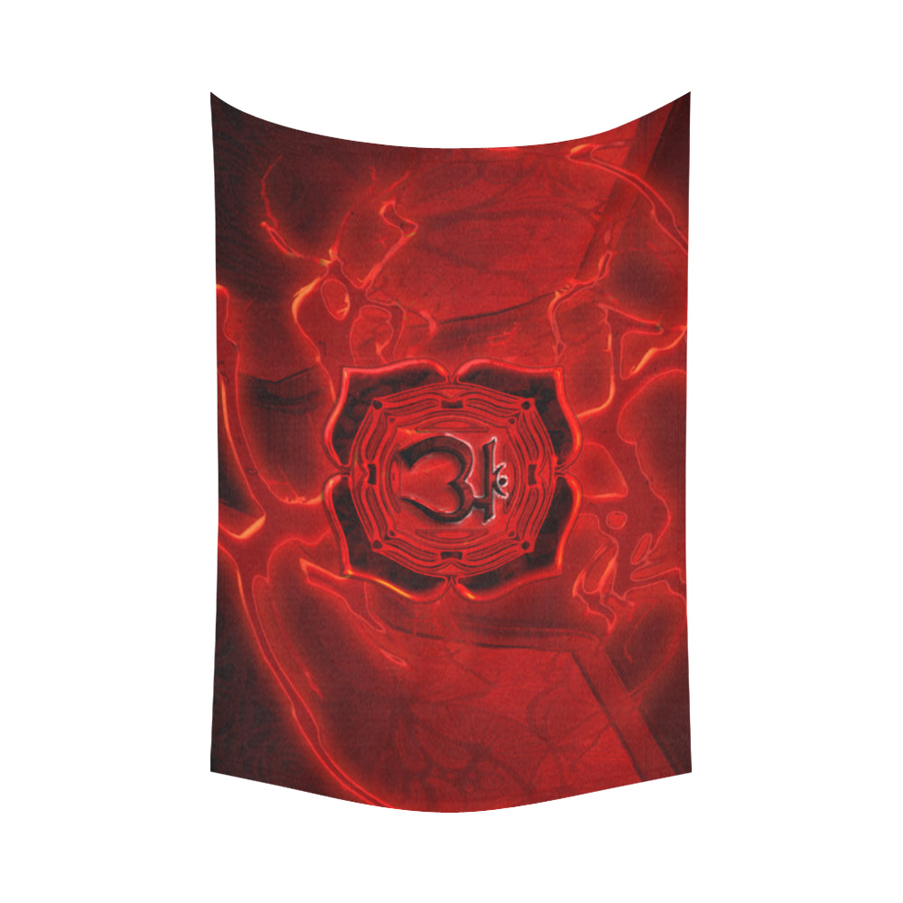 "Root Chakra Muladhara Cotton Linen Wall Tapestry 90""x 60"""