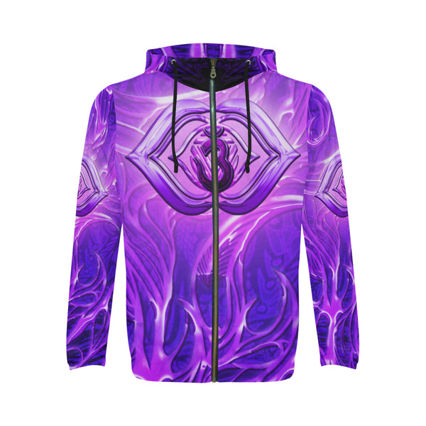 Third Eye Chakra Anja All Over Print Full Zip Hoodie for Men