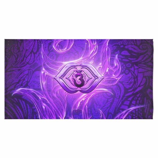 "Third Eye Chakra Anja Bath Towel 30""x56"""
