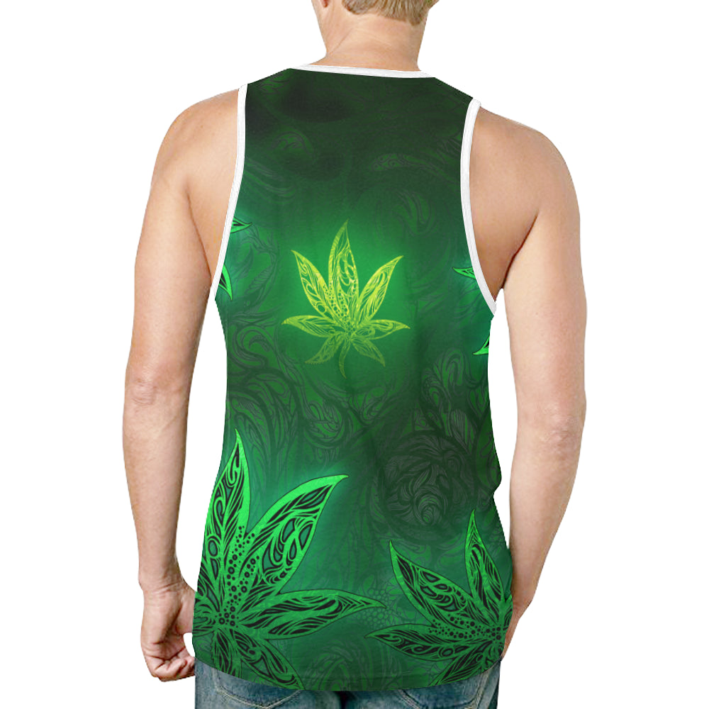 Dank Bud Black Tank Top for Men (Model T46)