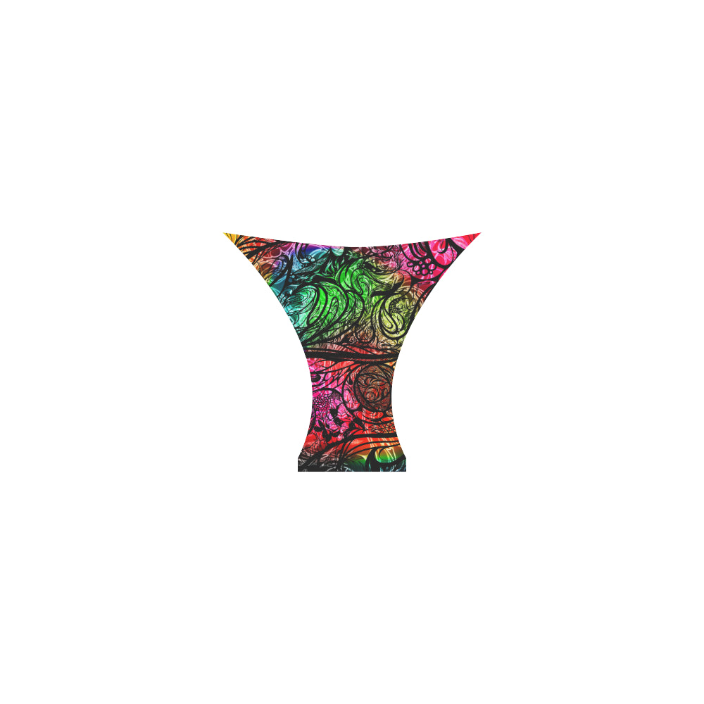 Zen Doodle Chromatic Chaos Custom Bikini Swimsuit
