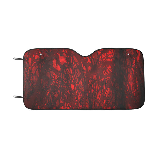 "Red Carnage Blood Vein Goth Vampire Car Sun Shade 55""x30"""