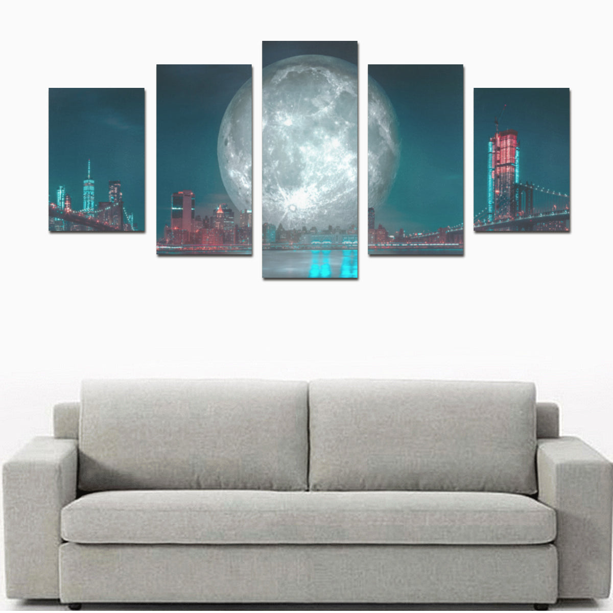 Panorama 1355 Canvas Print Sets -Size D