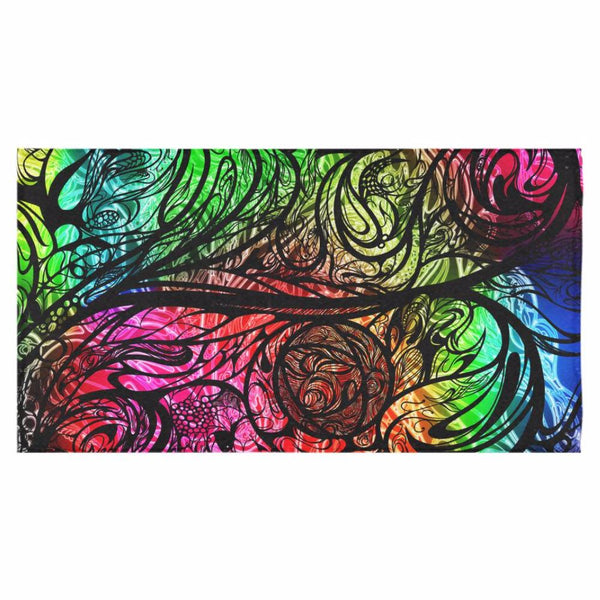 "Zen Doodle Chromatic Chaos Bath Towel 30""x56"""