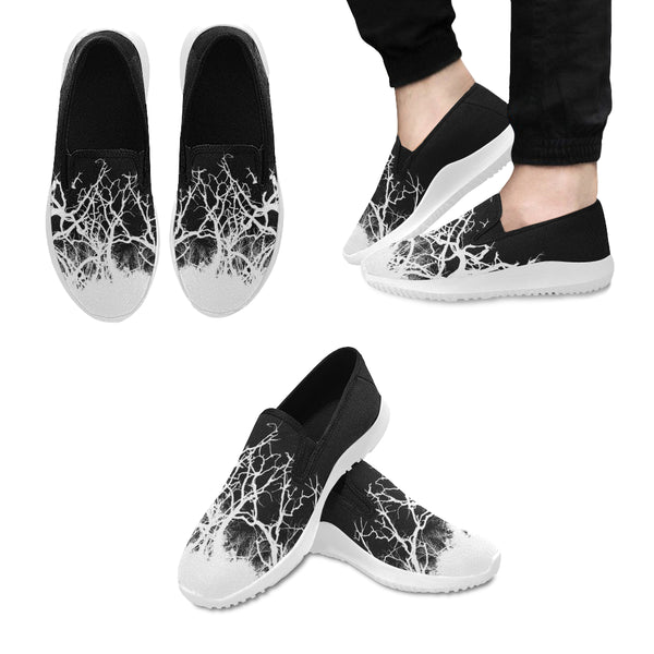 Dead Tree White Roots Orion Slip-on MEN'S Canvas Sneakers