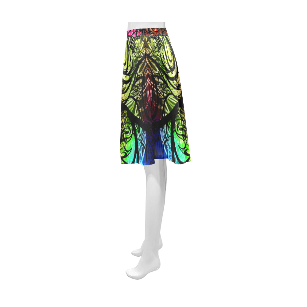 Zen Doodle Chromatic Chaos Athena Women's Short Skirt