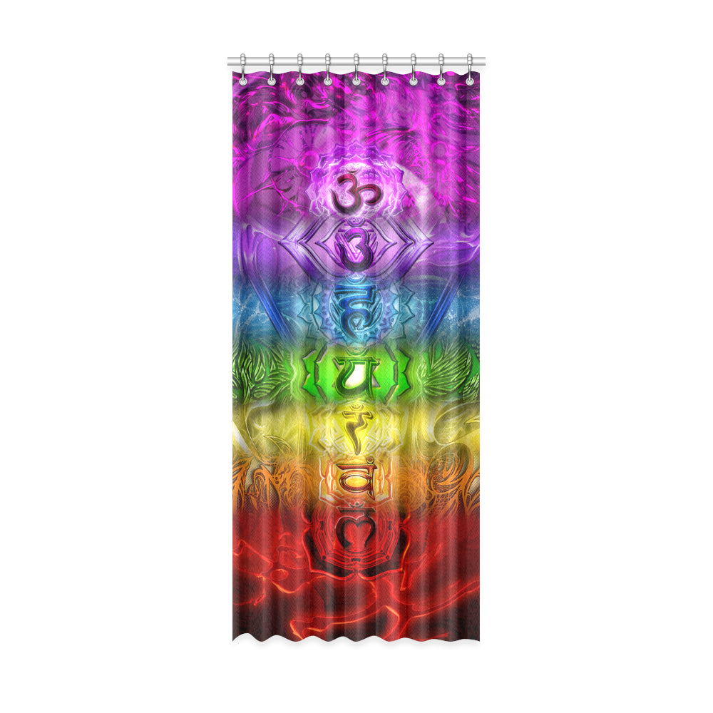 "Zen Chakra Full Spectrum Window Curtain 52"" x 120""(One Piece)"
