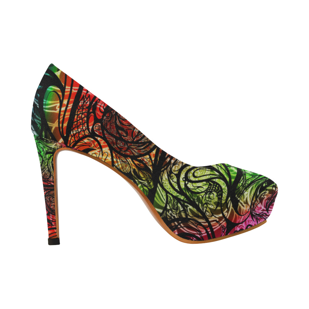 Zen Doodle Chromatic Chaos Women's High Heels