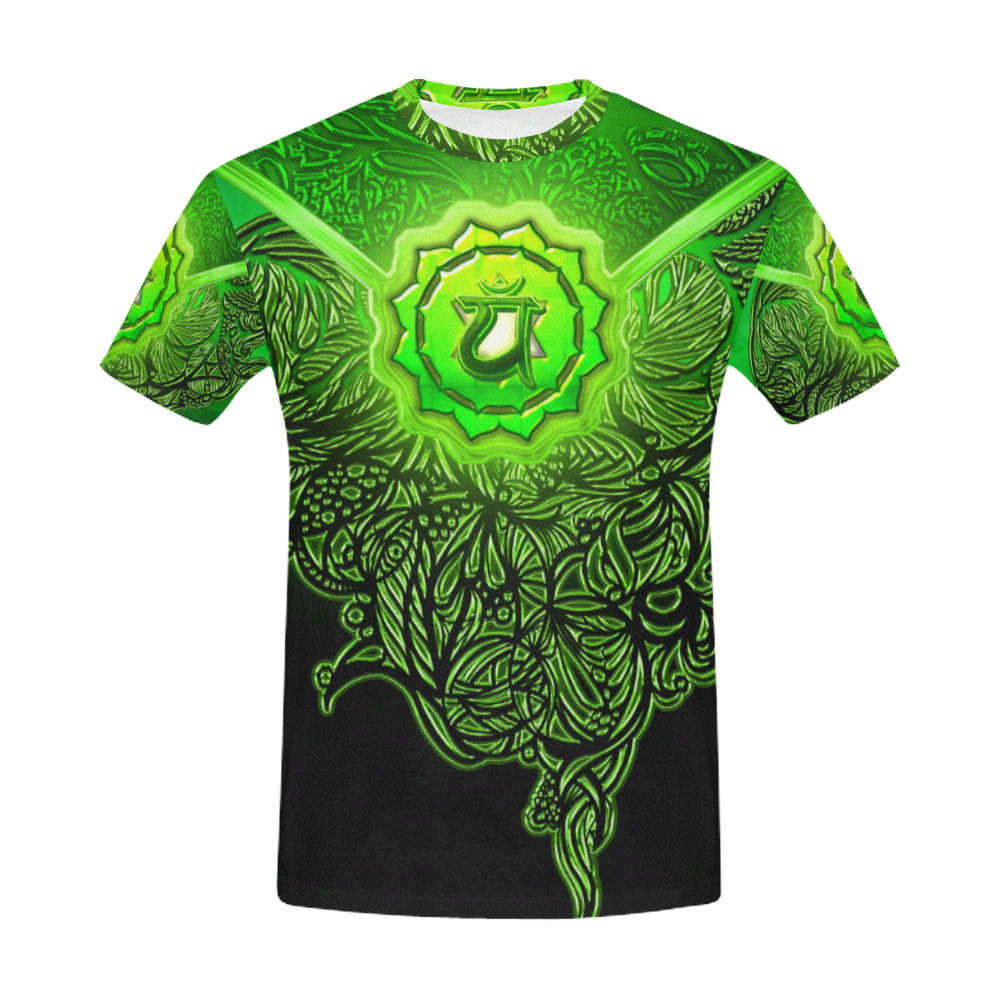 Heart Chakra Anahata All Over Print T-Shirt for Men