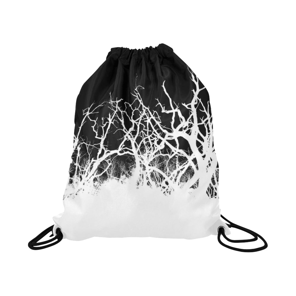 Dead Tree White Roots Basketball Drawstring Bag