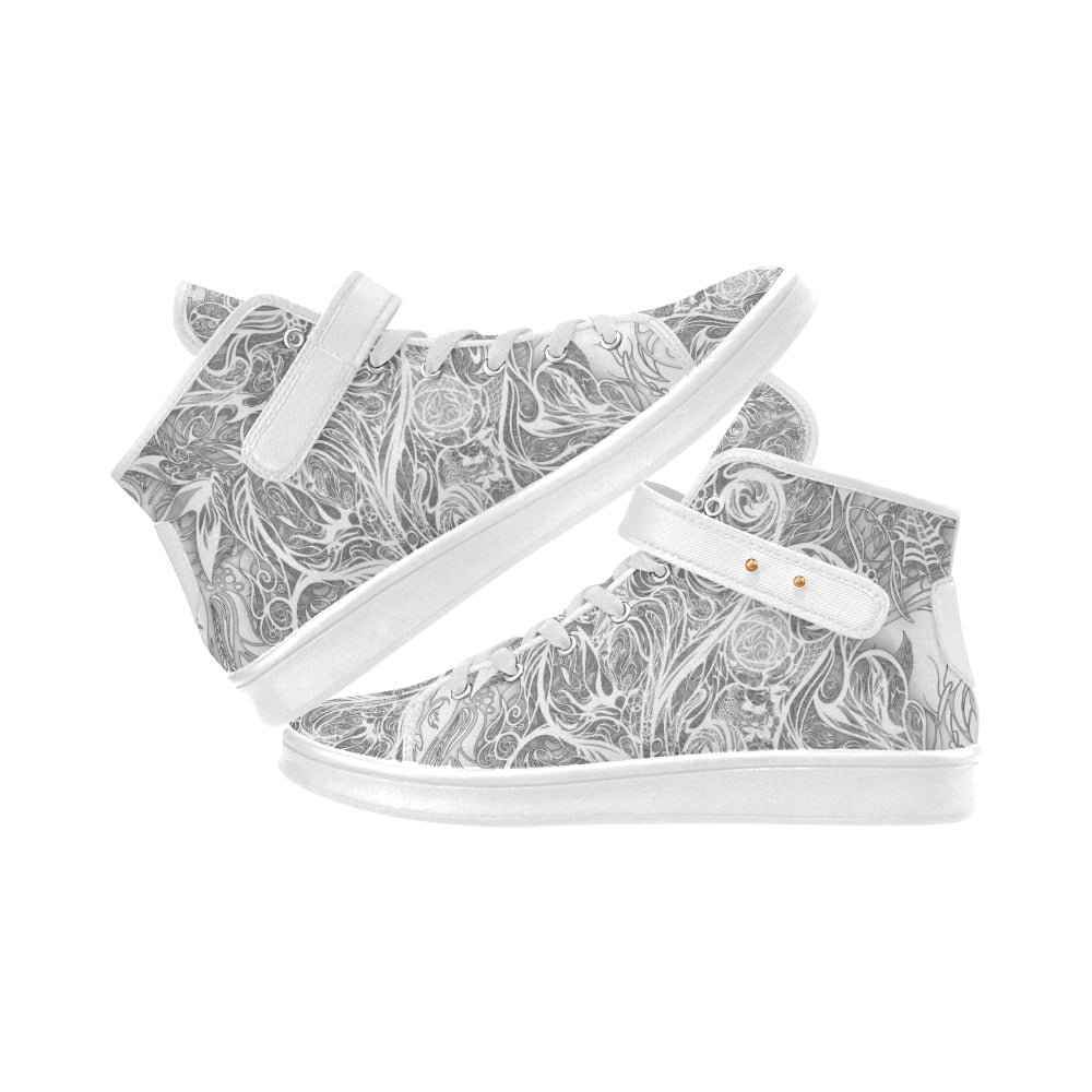 Zen Doodle Snow White Ornate Lyra MEN'S Cloth Shoes