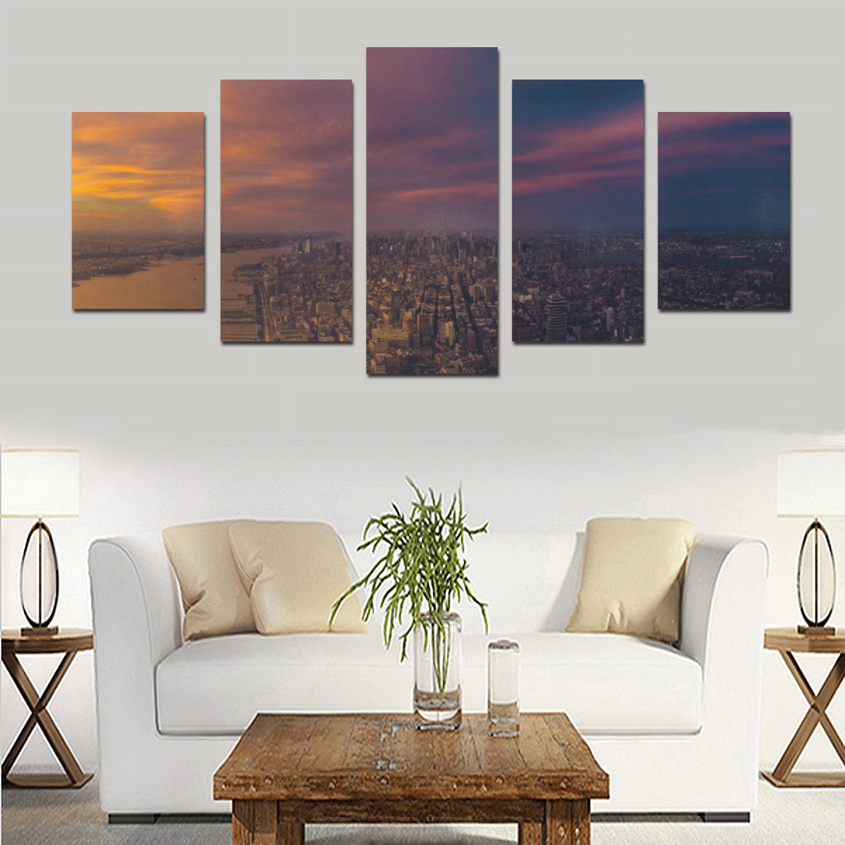 Panorama 1785 Canvas Print Sets - Size D