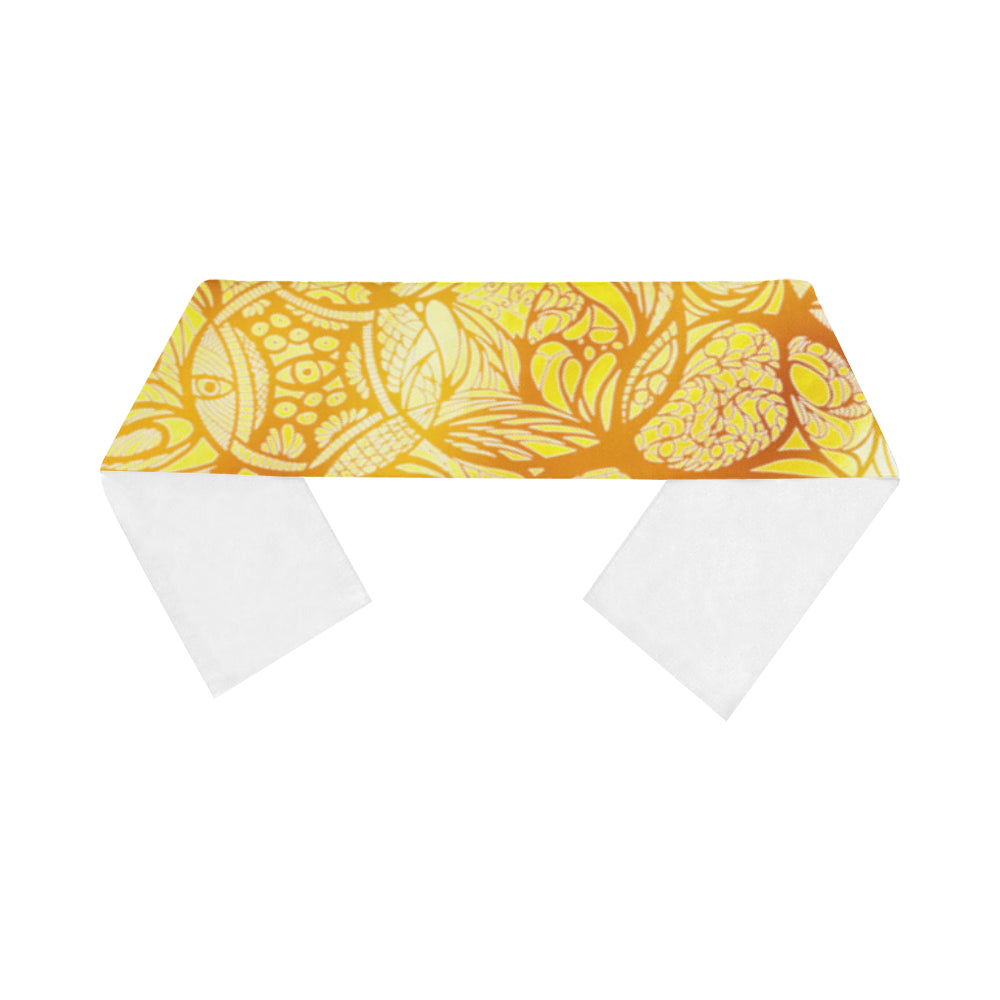 Zen Doodle Solar Sun Scarves 12''x62'' Single Sided Print