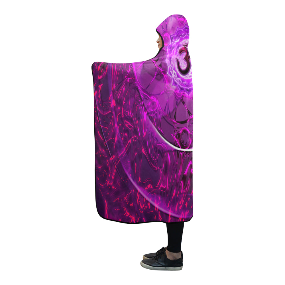 Crown Chakra Sahasrara Hooded Blanket 80''x56''