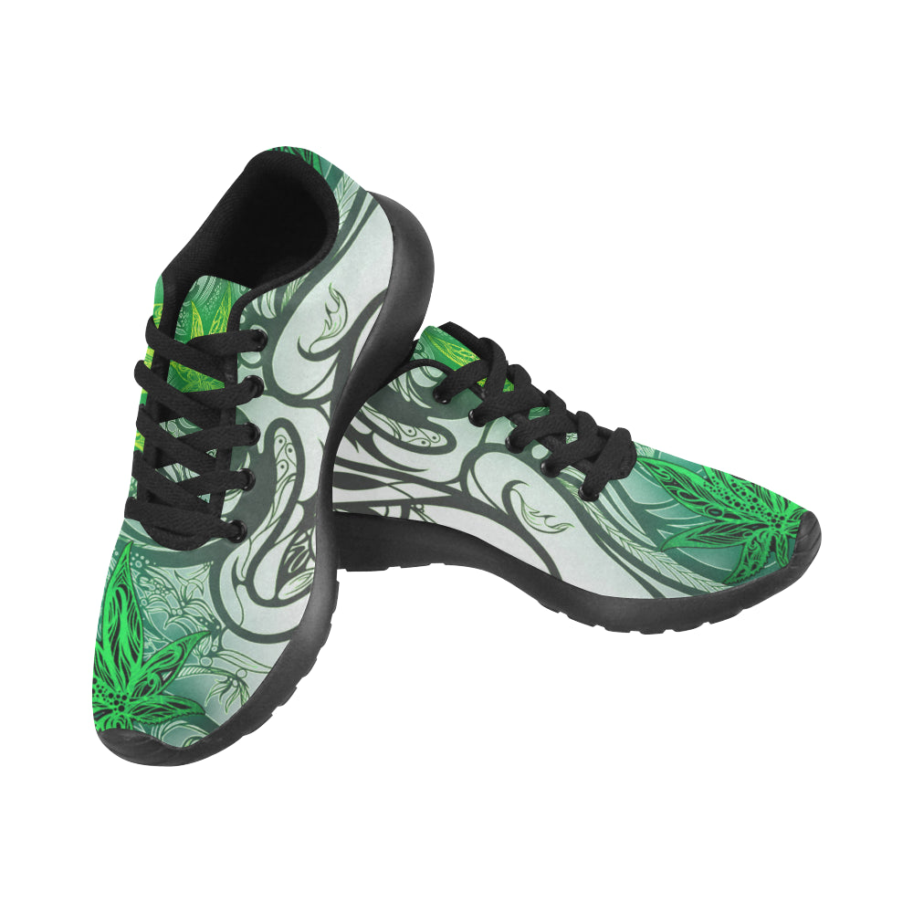 Weed Leaf White MEN'S Running Shoes