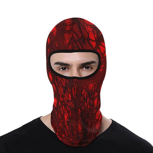 Red Carnage Blood Vein Goth Vampire All Over Print Balaclava